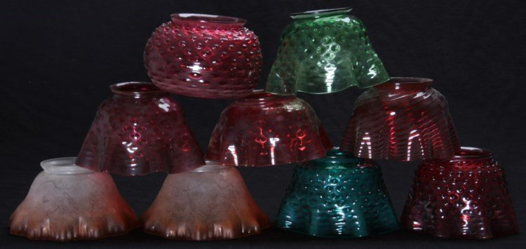 9 Colored Glass Shades