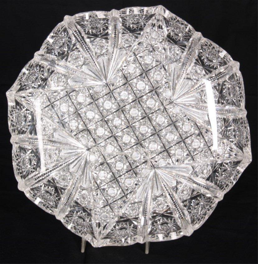Cut Glass Plate