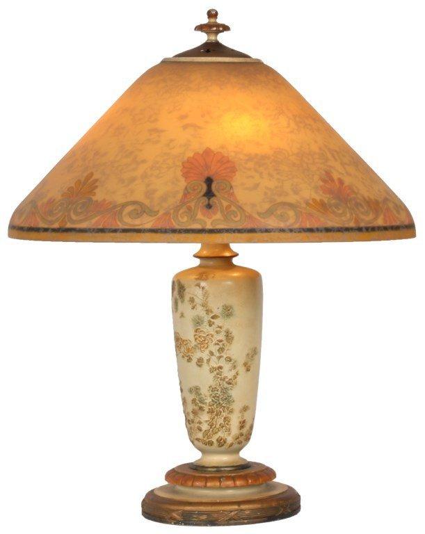 18 in. Handel Reverse Painted Lamp