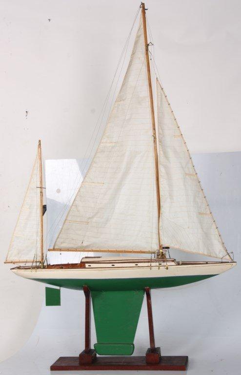 Vintage Seaworthy Yacht Pond Boat
