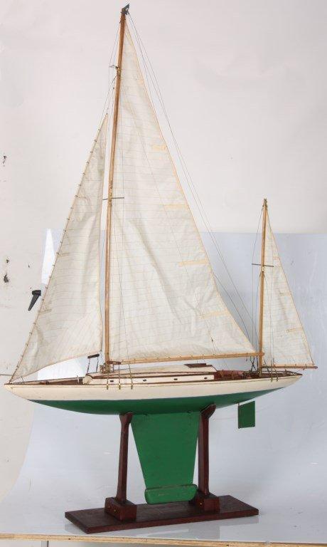 Vintage Seaworthy Yacht Pond Boat - 4