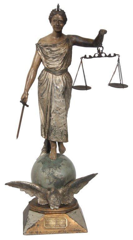 Standing Figural Justice Cigar Lighter