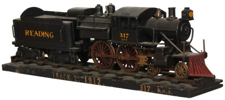Wood & Metal Camelback Locomotive Engine