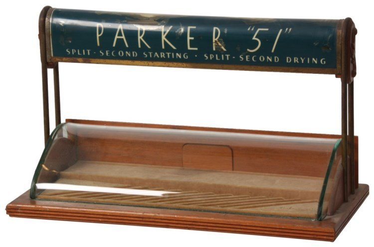 Parker 51 Counter Top Display Case