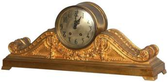 Ornate Seth Thomas Tambour Mantle Clock