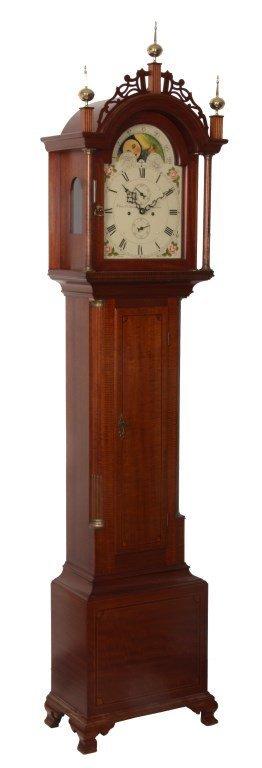 Sgd. Elmer O. Stennes Tall Case Clock