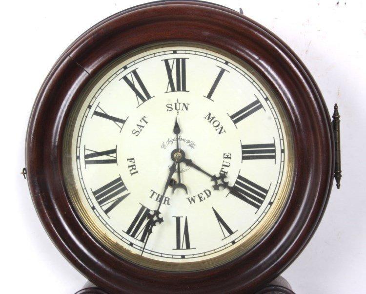 "Ingraham ""Ionic"" Double Dial Calendar Clock - 10"