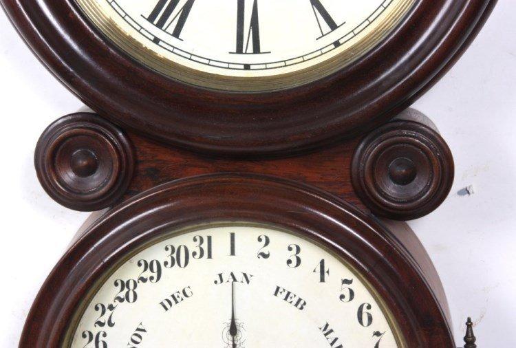 "Ingraham ""Ionic"" Double Dial Calendar Clock - 2"