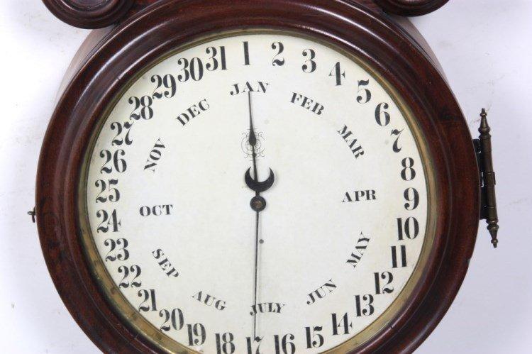 "Ingraham ""Ionic"" Double Dial Calendar Clock - 3"