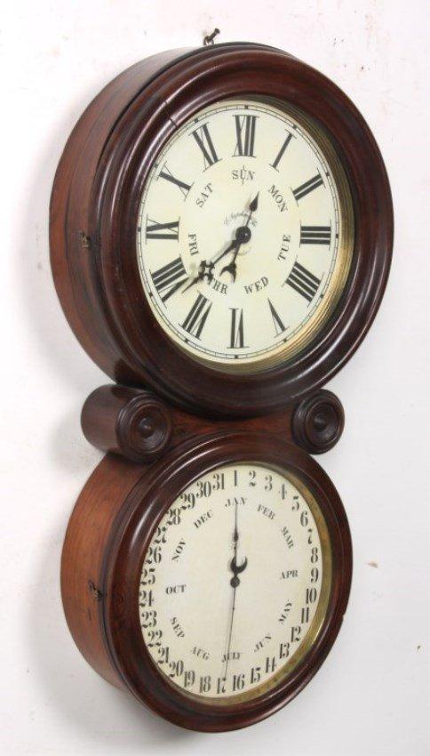 "Ingraham ""Ionic"" Double Dial Calendar Clock - 4"