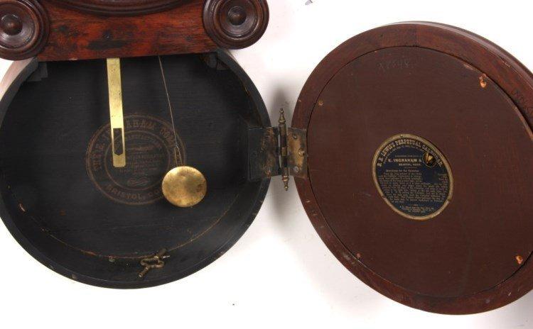 "Ingraham ""Ionic"" Double Dial Calendar Clock - 5"