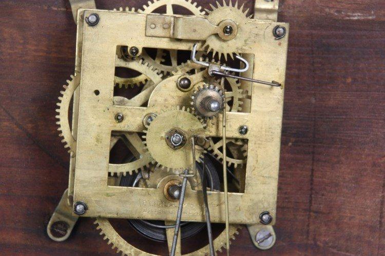 "Ingraham ""Ionic"" Double Dial Calendar Clock - 7"
