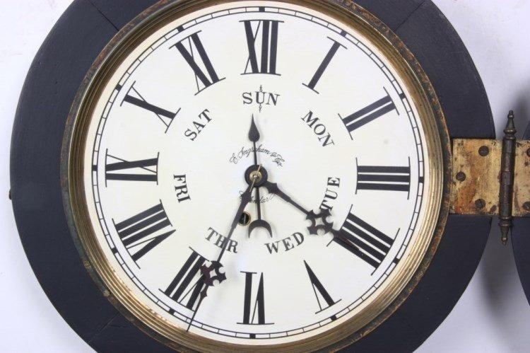"Ingraham ""Ionic"" Double Dial Calendar Clock - 9"