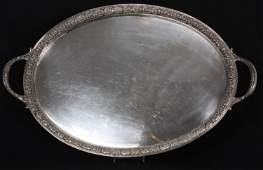 Tiffany  Co Makers Sterling Silver Serving Tray