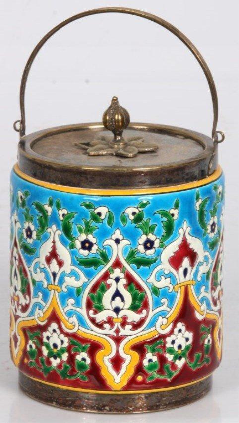 Unsigned Longwy Cracker Jar