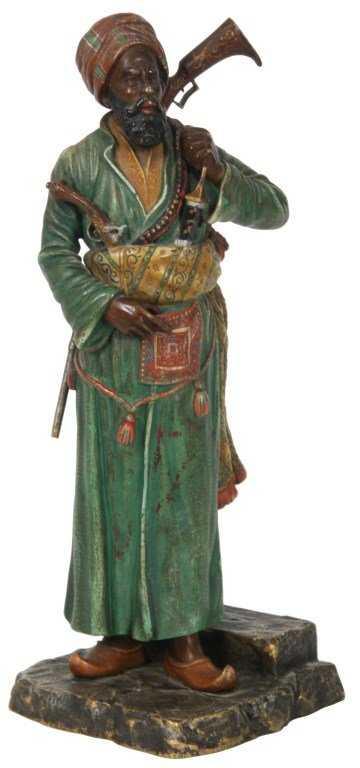 Attr Franz Bergman Cold Painted Bronze Sculpture
