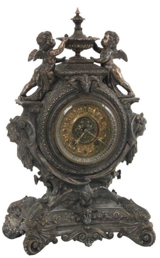 Ansonia Figural Mantle Clock – Lydia