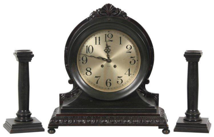 3 Pc. Chelsea Ship's Mantle Clock Set
