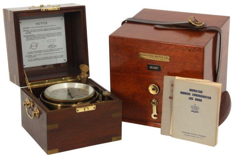 Hamilton No.21 Fusee Detent Boxed Chronometer