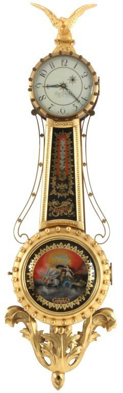 Elmer O. Stennes Girandole Banjo Clock