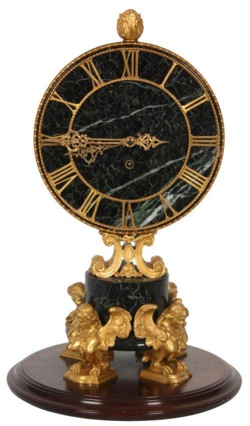 Marble & Bronze Chelsea Mantle Clock