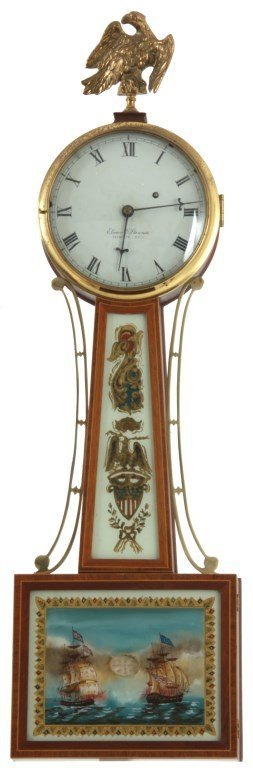 Elmer O. Stennes Banjo Clock