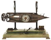 French Industrial Torpedo Clock