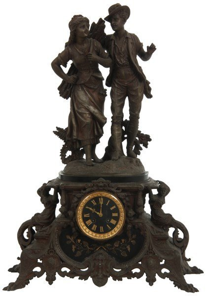 French Figural Mantle Clock