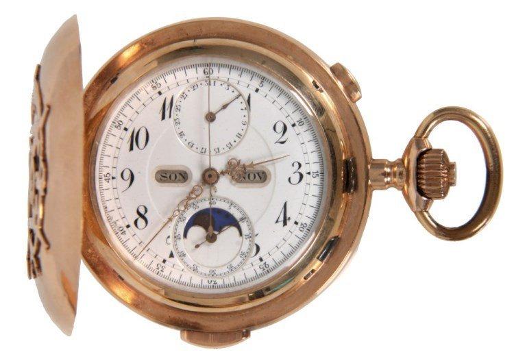 Hi Grade Unsigned Swiss Chronograph Min. Repeater
