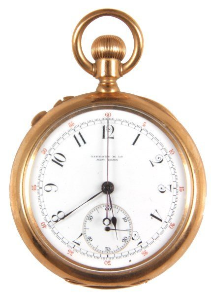 Tiffany 18K Split Second Chronometer Pocket Watch
