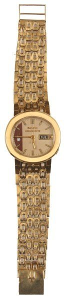 Bulova 18K Gold Accuquartz Watch