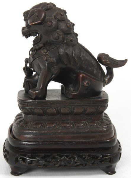 Chinese Bronze Foo-Dog Figure