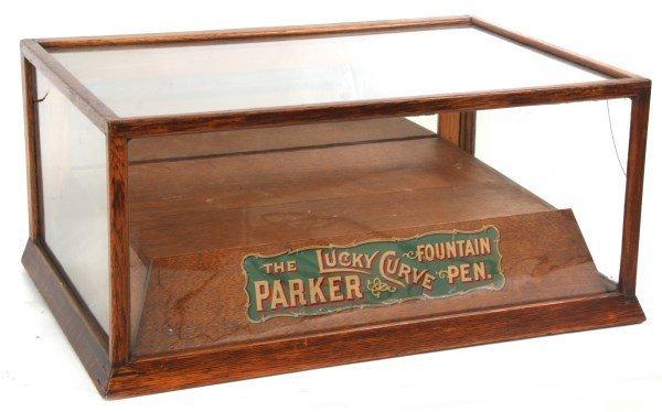 Oak Parker Pens Display Case