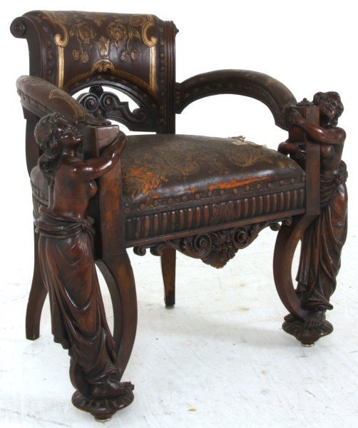 Monumental Walnut Marble Top Desk & Chair - 10