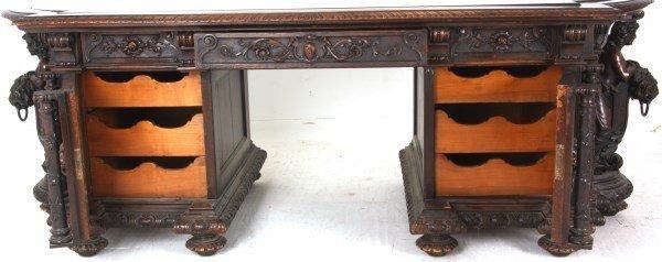 Monumental Walnut Marble Top Desk & Chair - 4