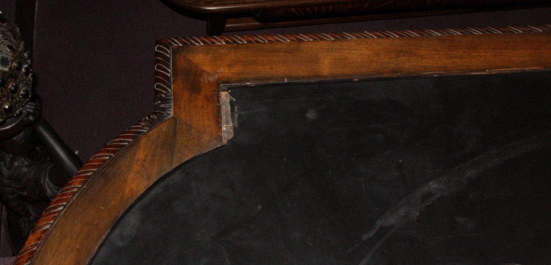 Monumental Walnut Marble Top Desk & Chair - 9