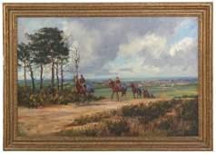John King O/C Horse Riding Scene