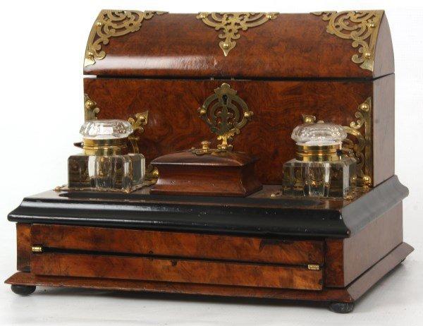 Brass Mounted Rosewood Travel Desk