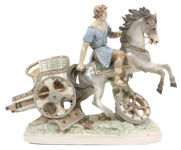 Amphora Porcelain Figural Charioteer Grouping