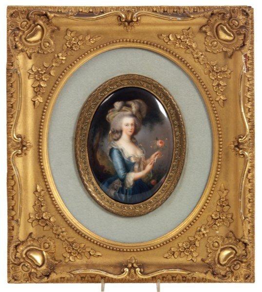 KPM Porcelain Plaque - Marie Antoinette
