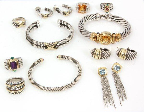 10 Pcs. Signed David Yurman Jewelry