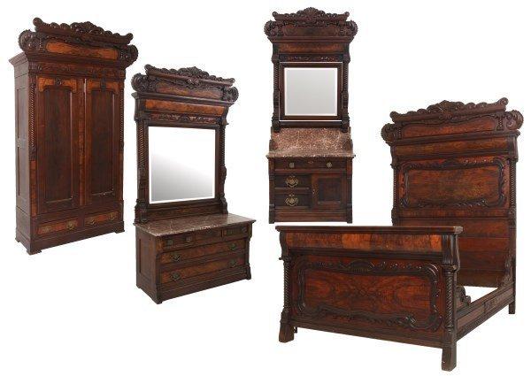 4 Pc. Eastlake Marble Top Bedroom Set