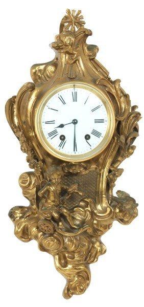 Gilt Bronze Pendant Wall Clock
