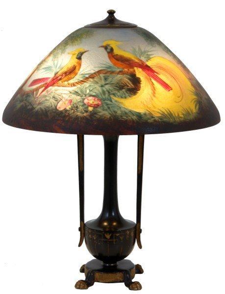 18 in. Moe Bridges Reverse Painted Lamp