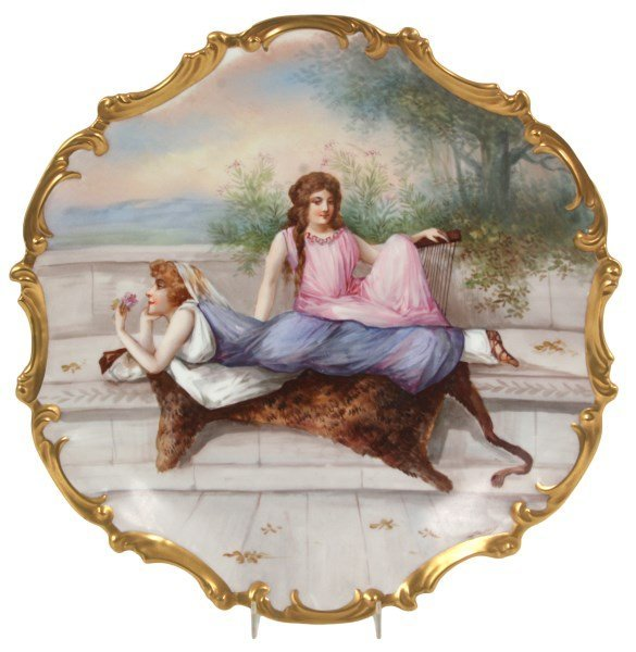15.5 in. Limoges Hand Painted Porcelain Plaque