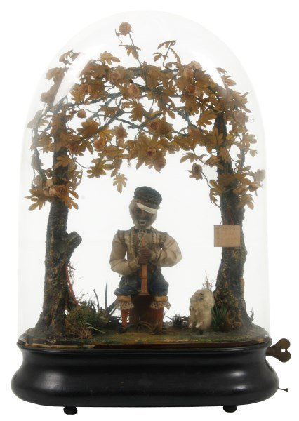 French Musical Figural Monkey Automaton