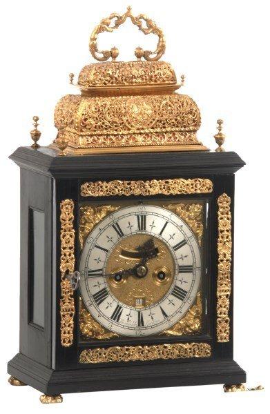 Markwick London Ebonized Bracket Clock