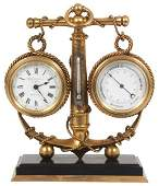 French Industrial Desk Clock