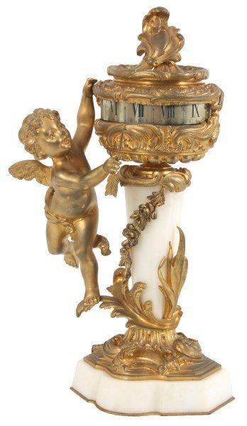 Gubelin Alabaster & Bronze Annular Clock