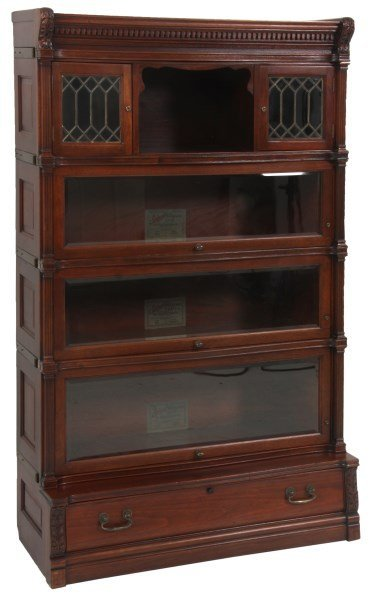 Mahogany Ideal Stacking Bookcase